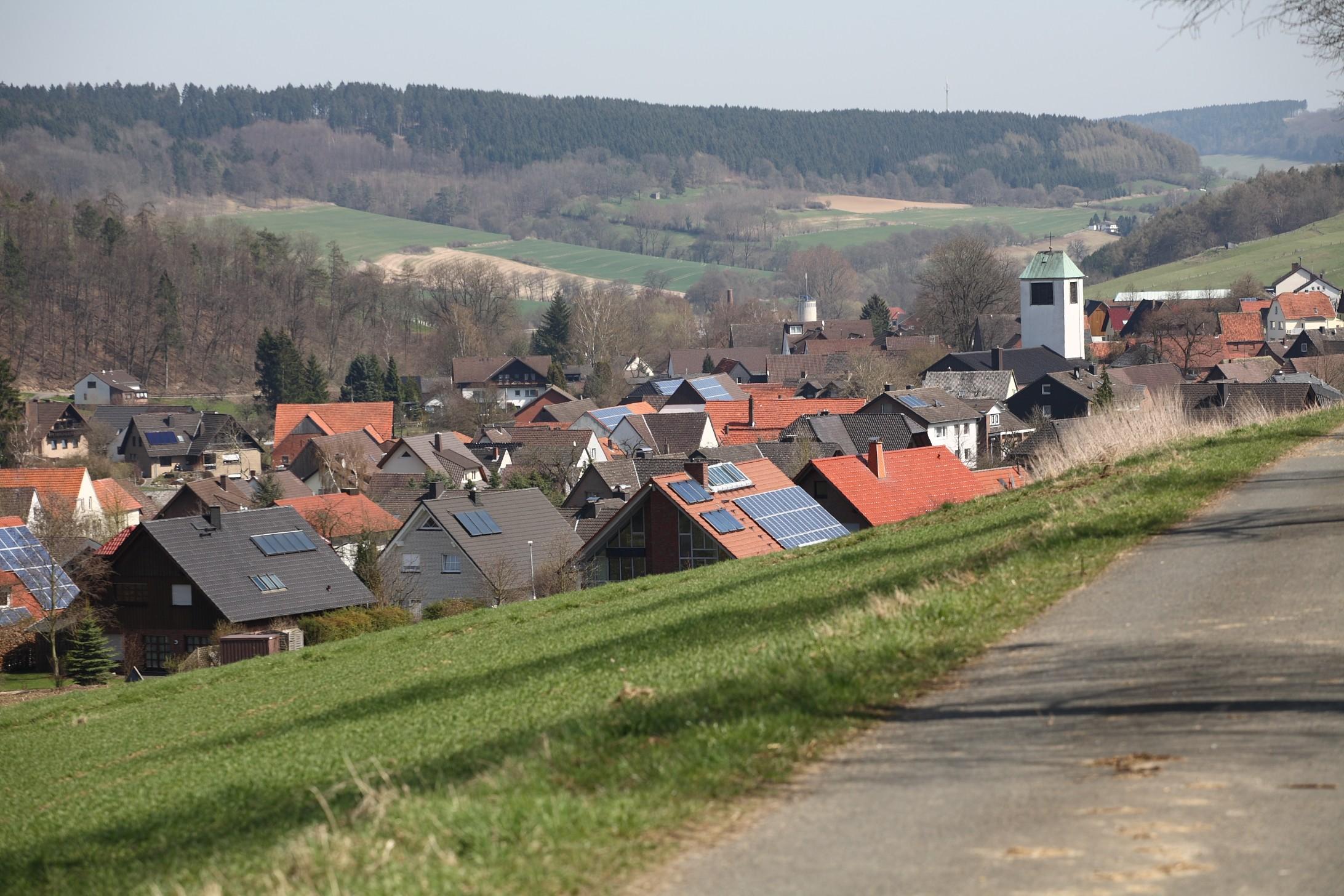 Blick auf Ovenhausen