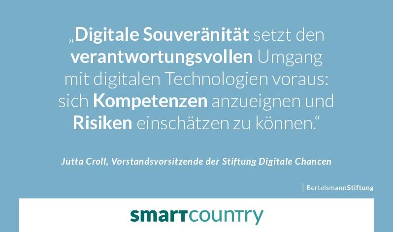 Ein Zitat von Jutta Croll, Vorstandsvorsitzende der Stiftung Digitale Chancen: Digitale Souveränität setzt den verantwortungsvollen Umgang mit digitalen Technologien voraus: sich Kompetenzen anzueignen und Risiken einschätzen zu können.