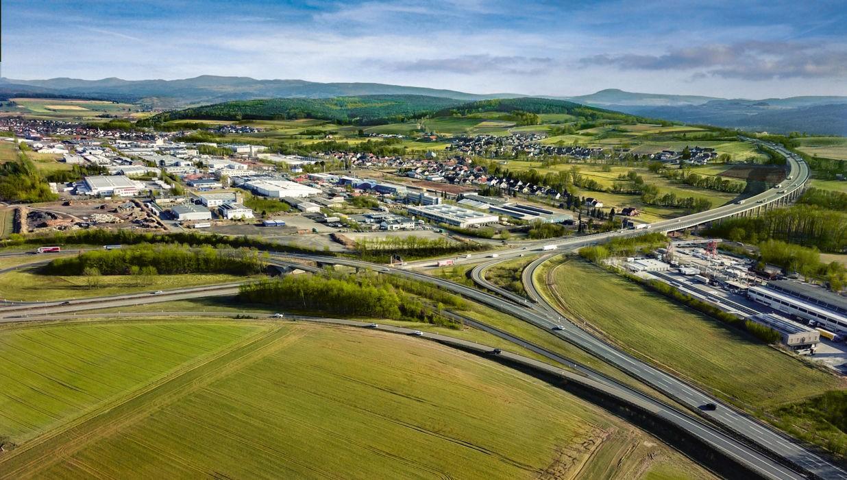 Autobahndreieck in Eichenzell