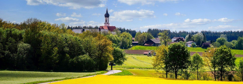 Ein ländliches Dorf
