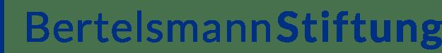 Der Schriftzug der Bertelsmann Stiftung